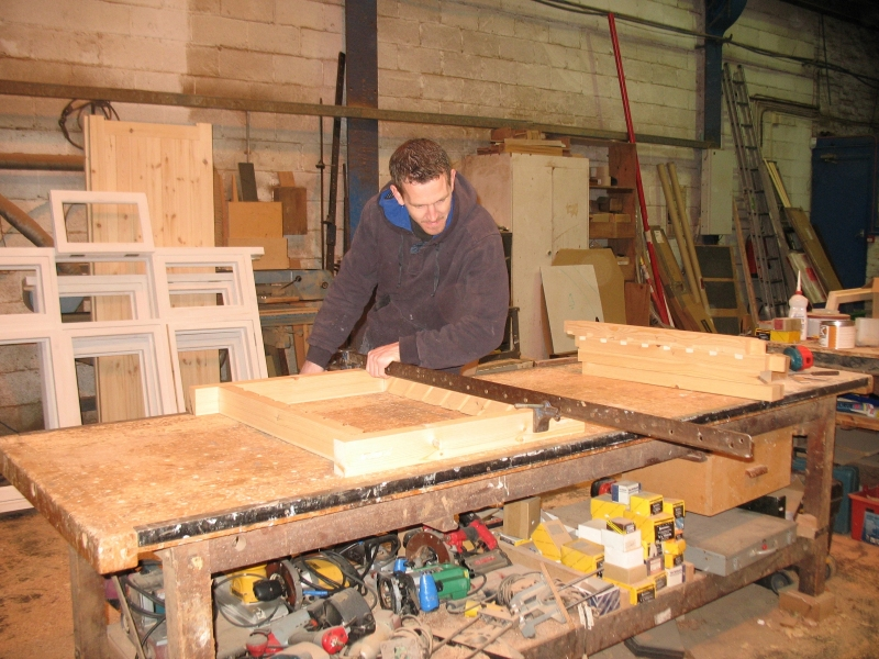 Bench joinery in action