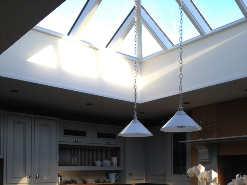 Completed Mahogany roof-light