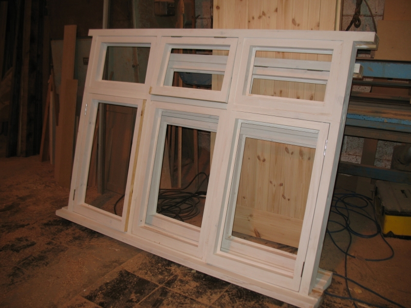 Primed bespoke window frame
