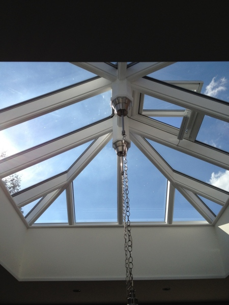 Roof-light glass canopy