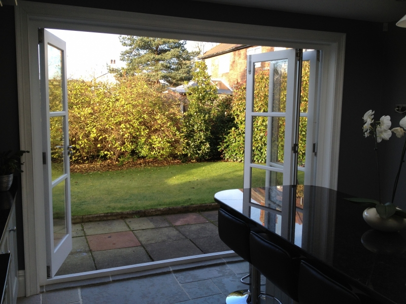 Our bi-fold doors can replace a patio door and add character